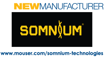 Logo SOMNIUM Technologies, its products now at Mouser