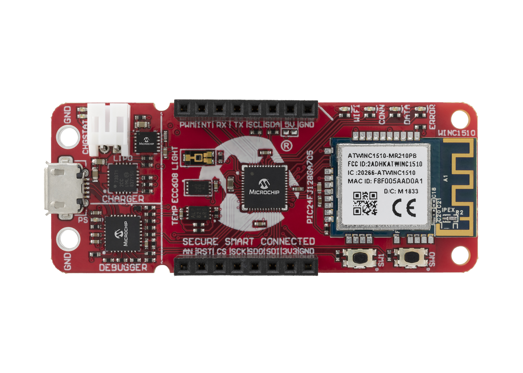 Microchip PIC-IoT-WG-Front