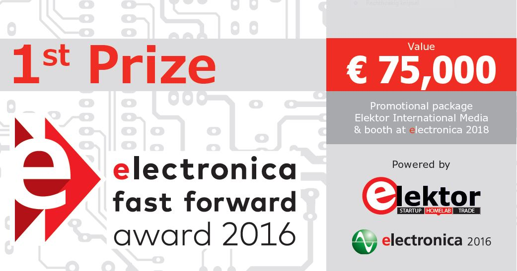 Voucher worth 75,000 euros, first prize Fast Forward Award