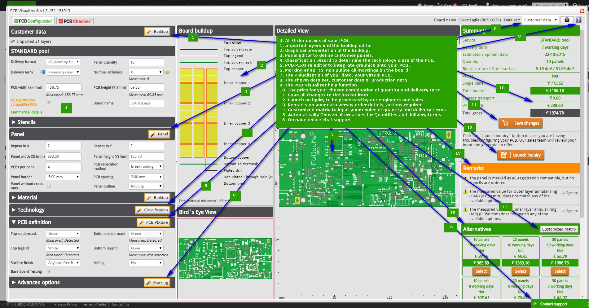 Eurocircuits - PCB Configurator