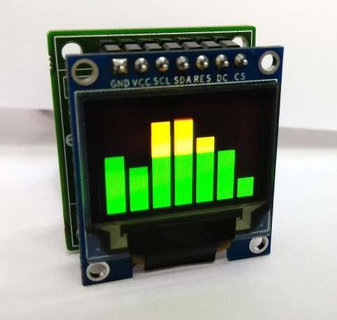 spectromètres audio simples à 7 bandes