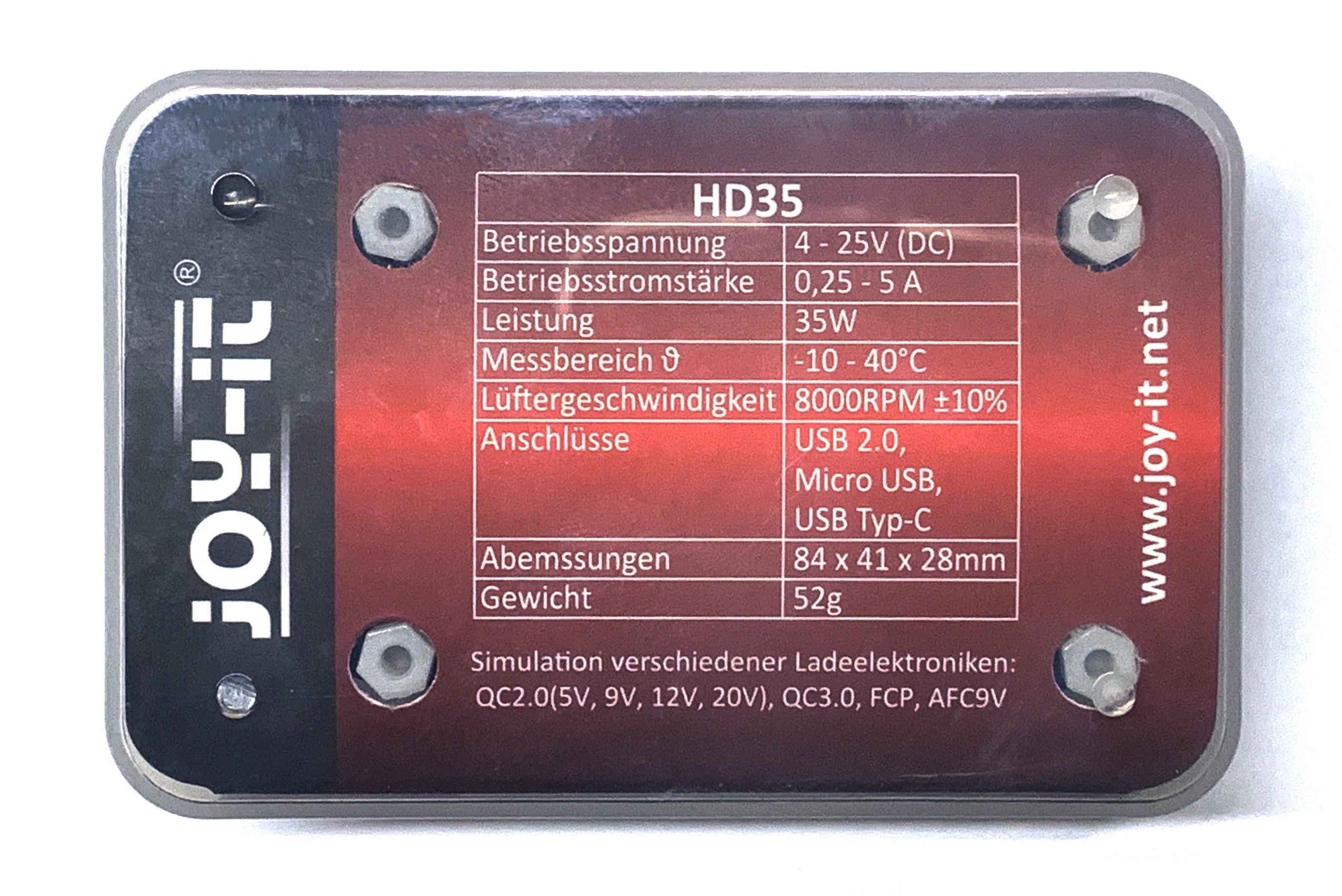 Elektor - Elektor - Banc d'essai : charge électronique USB Joy-IT HD35
