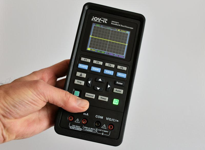 Review: Joy-IT DMSO2D72 portable 3-in-1 oscilloscoop