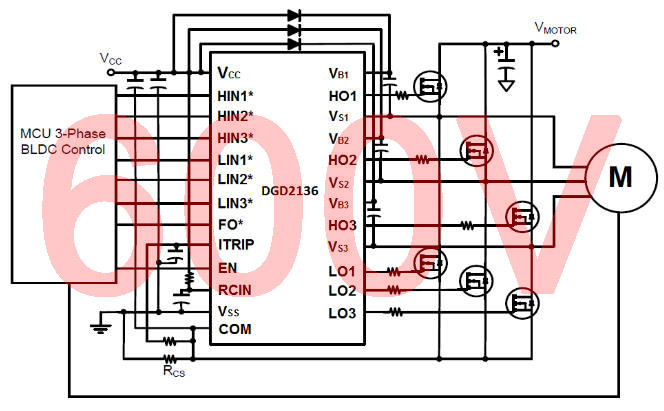 3 phase driver ic switches bldc mosfets from 3 3v for 3 phase bldc motor driver circuit