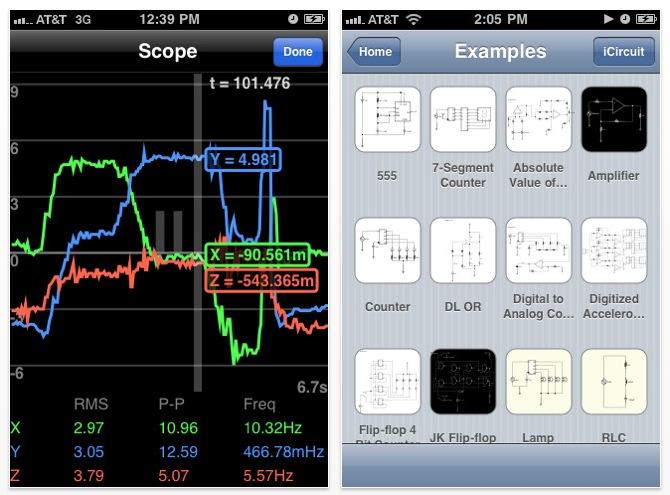 circuit design simulator app runs on iphone, ipad and macoscircuit design simulator app runs on iphone, ipad and macos