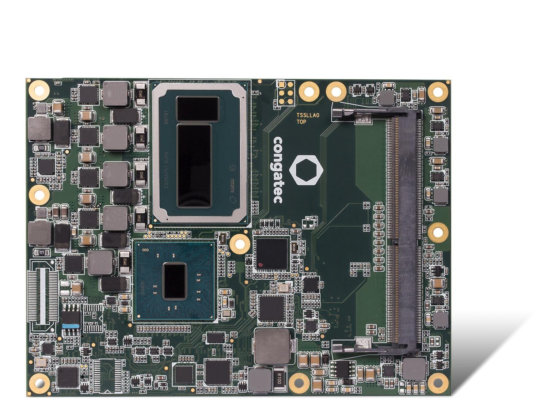 congatec COM Express Module with Intel Xeon processor and Intel Iris Pro graphics