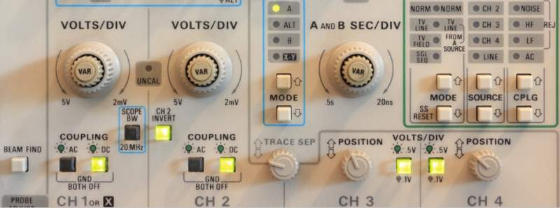 oscilloscope user interface