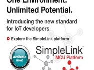 Using the phrase 'One Portfolio, One Software, One Platform', TI introduces the SimpleLink platform.