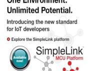 Using the phrase 'One Portfolio, One Software, One Platform', TI introduces the SimpleLink platform.