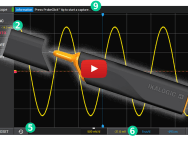Pen-shaped battery-powered wireless oscilloscope