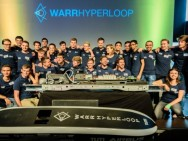 Tech University Munich team wins Hyperloop speed competition II. Image: cbc.ca
