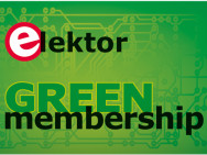 Sign up for the Elektor E-zine and have a chance of winning a free GREEN Membership!
