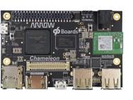 Demonstration des Board Chameleon96 von Arrow Electronics auf der Embedded World 2017.