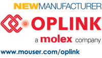 Logo Oplink as a new manufacturer at Mouser thumb