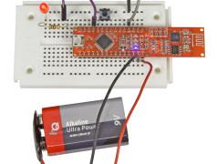 Pretzel-Board mit Taster und LED.