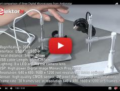 Three affordable digital microscopes