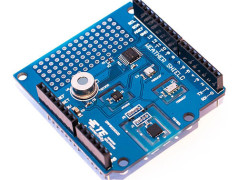 MEAS: all weather sensors on one Arduino shield. Image  credit: Mouser.