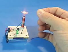 Experimentieren mit Tesla-Trafos