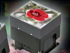 Tasten mit OLED-Display zeigt Videos