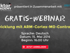 Gratis-Webinar: Entwicklung mit ARM-Cortex-M0-Controllern