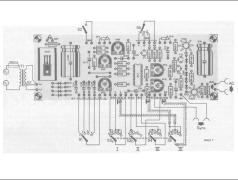 Verdrahtungsschema für die Buchsen, Schalter und Potentiometer der Frontplatte.