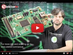 AxiCat: Universeller USB-I²C/SPI/1-Wire/UART/GPIO-Adapter