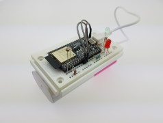 Prototyp eines Sensorknotens, der Messwerte in die Cloud sendet.