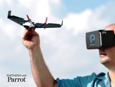 Papierflieger mit live Videostream