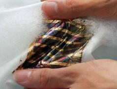 Solarzelle in der Wäsche. Bild: RIKEN.