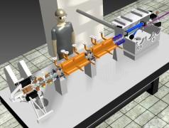Das Mini-Synchrotron Smart*Light ist so klein, dass es auf einen Labortisch passt (Bild: TU Delft / TU Eindhoven).
