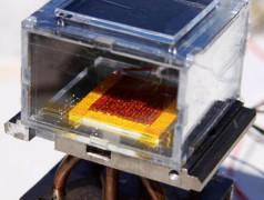 Wasserernter des MIT mit MOFs der UC Berkeley. Bild: MIT / Labor von Evelyn Wang.