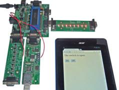 commande de LED à la tablette