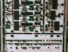 Ordinateur 16bits en composants discrets. Photos: James Newman