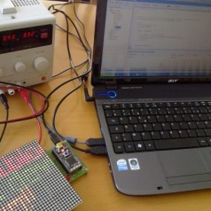 Easy scrolling LED message board with mbed