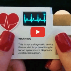 An Electrocardiograph in a business card