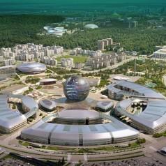 Das 25 ha große Ausstellungsgelände. Bild: Astana Expo 2017