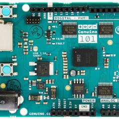 La carte Arduino/Genuino 101.