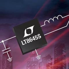 Convertisseur abaisseur, synchrone, 2,2 MHz, 65 V, 8 A en sortie, réduction des émissions EMI/EMC bien en dessous des limites de la norme CISPR25, classe 5