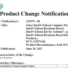 Ménage chez Intel : exit les Galileo, Edison, Joule et Recon Jet