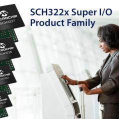Nouveaux contrôleurs d'E/S SCH322X de Microchip