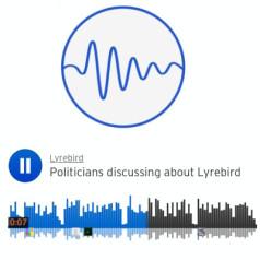 Obama en Trump hebben het over Lyrebird. Foto: Lyrebird