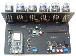 VFD-Tube Clock: main board + display board + ESP32 DevKit