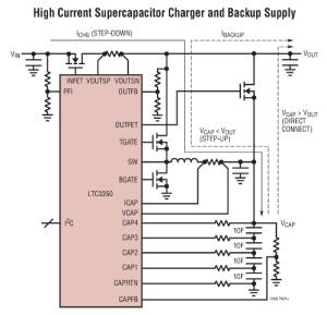 The LTC3350 Supercap Ride-through Controller