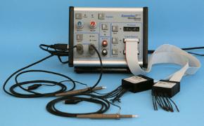Desktop instrument monitors and simulates MCU interfaces