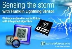 World's First Lightning Sensor IC Detects Lightning up to 40 km Away