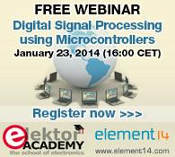 New Webinar: Digital Signal Processing using Microcontrollers