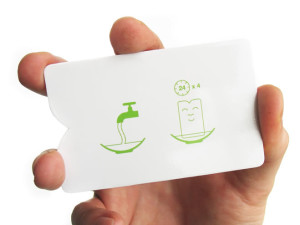 A truly 'green' business card