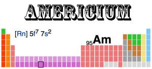 The radio active element americium