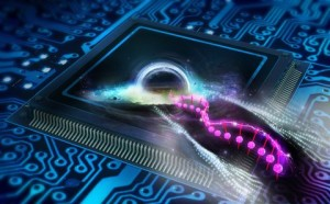 Black holes on an electronic chip