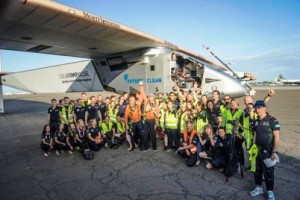 Some of the Solar Impulse team